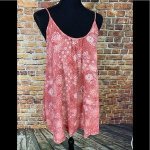 Forever 21 Rust Floral Tunic Dress Sz Small